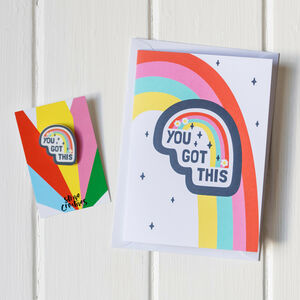 You Got This Positivity Rainbow Pin And Card