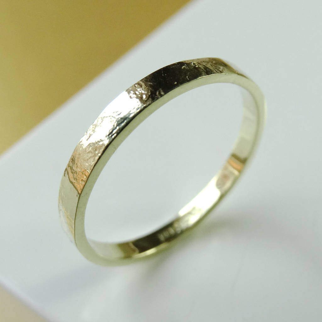 century hammered yellow gold ring rings set rustic wedding products unique