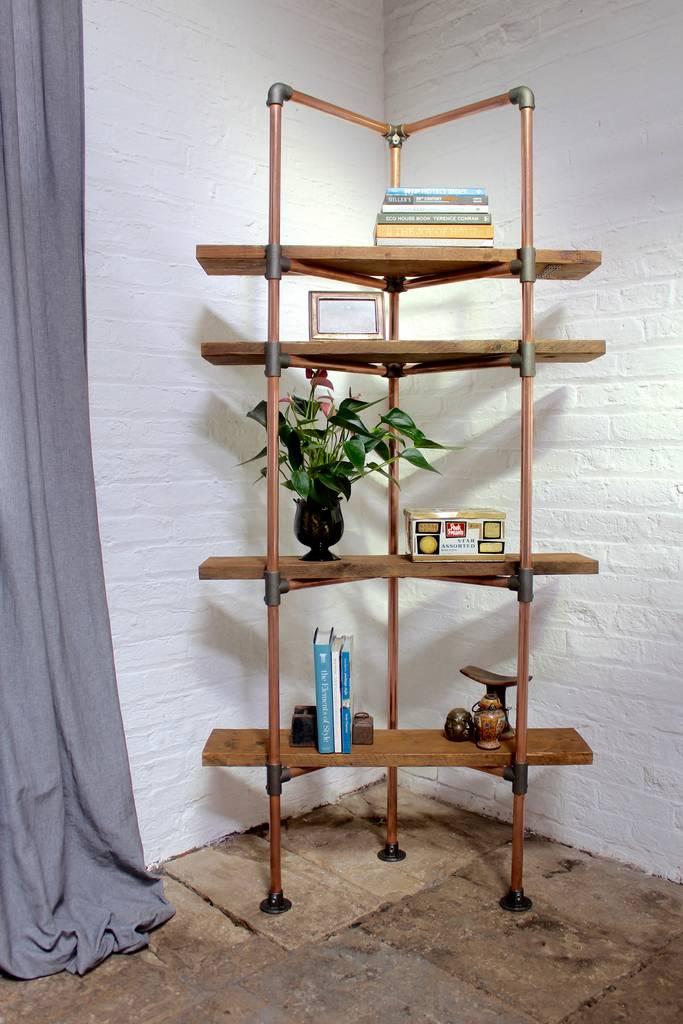 Kirkby Bespoke Copper Pipe Bookcase