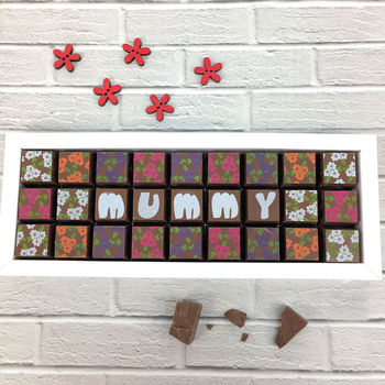 Milk Chocolates For Mum Or Mummy Flower Mosaic