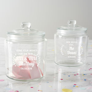 Personalised Wishes Wedding Jar - kitchen