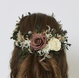 Olivia Retro Crown - natural artisan wedding trend