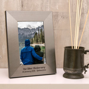 Personalised Silver 25th Anniversary Photo Frame