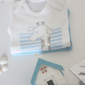 Jesse Giraffe Babygrow And Bib Gift Set - clothing