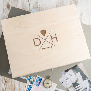 Personalised Follow Your Heart Wooden Box For Keepsakes - summer sale