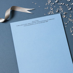 Personalised Luxury Writing Paper
