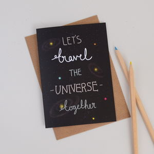 Let's Travel The Universe Together Valentines Card - shop by occasion