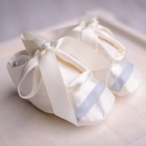 Boys Christening Booties 'Echo' - christeningwear