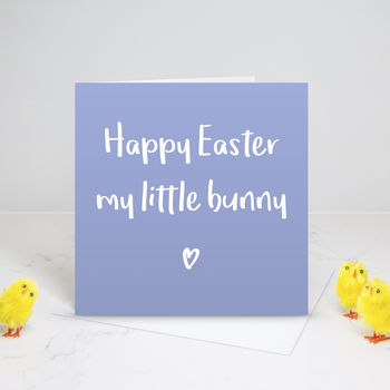 My Little Bunny Happy Easter Card