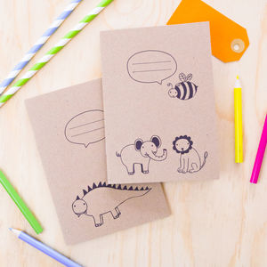 Kids Animal Notebooks Set