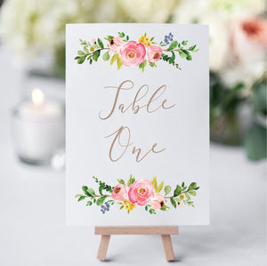 Blossom Table Cards
