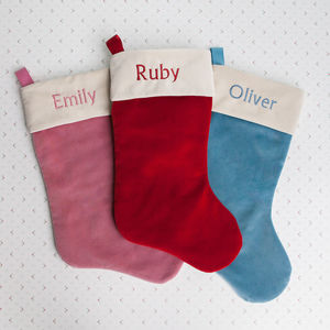 Personalised Velvet Christmas Stocking