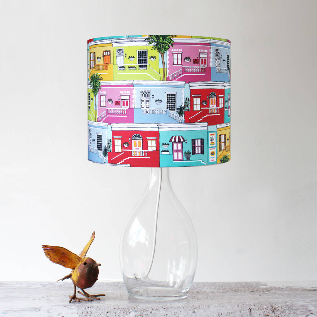 Colourful Happy Houses Handmade Lampshade