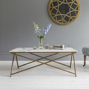 White Marble Coffee Table - scandi home decor