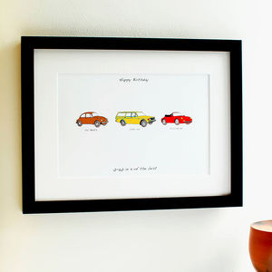 Personalised Carvolution® Print - gifts for him