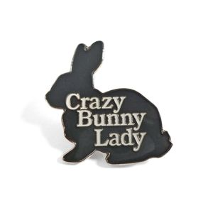 Crazy Bunny Lady Brooch
