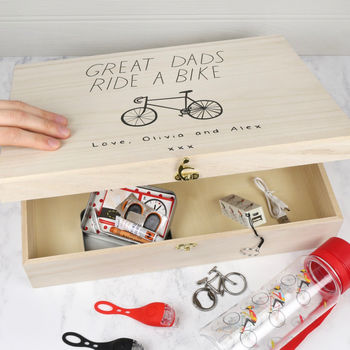 Personalised 'Great Dads Ride A Bike' Hamper Box