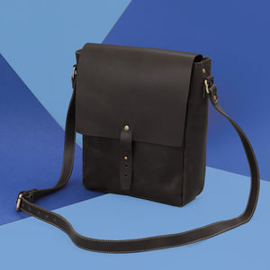 Leather Messenger Bag Maverick Range