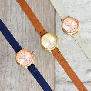 Conwy Petite Leather Strap Watch