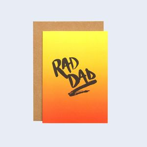 Rad Dad Father's Day Card - winter sale