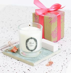 'Thank You' Scented Candle Gift - thank you gifts