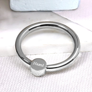 Silver Baby Rattle and Teething Ring