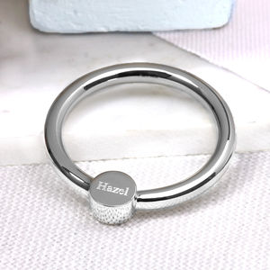 Silver Baby Rattle and Teething Ring - baby toys