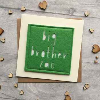 Personalised New Big Brother/Big Sister Card