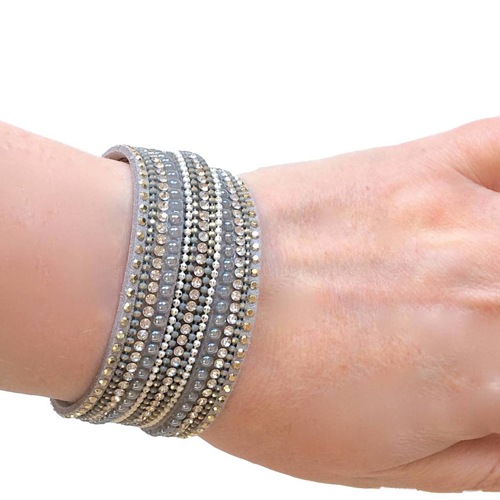 Beaded Wrap Around Bracelet With Magnetic Clasp