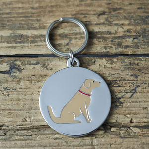 Golden Retriever ID Dog Name Tag - pet tags & charms