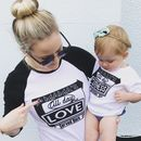Personalised Diner Mum And Child Matching T Shirt Set