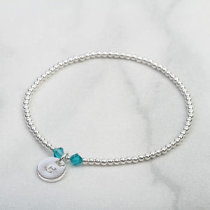 December Birthstone Blue Topaz Bracelet Gift For Her