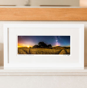 The Moon Rises As The Milky Way Sets Print