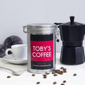 Personalised Name Coffee Gift Tin