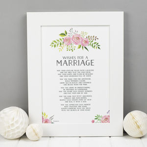 Marriage Poem Wedding Print