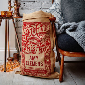 The Hudson Personalised Christmas Sack