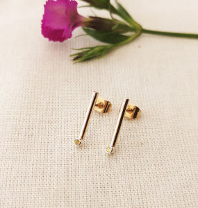 Gold And Silver Minimal Studs