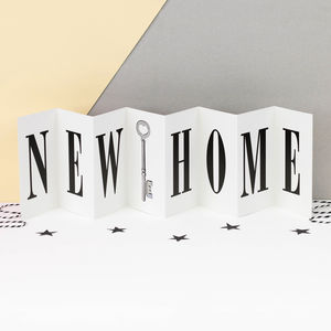 New Home Concertina Card