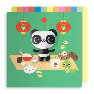 Jelly Magnet Panda Birthday Card