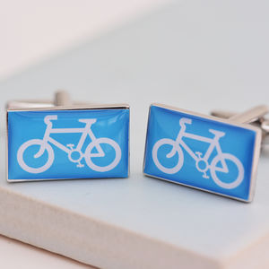Bicycle Sign Cufflinks - mens