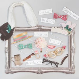 Set Of 20 Wedding Photo Booth Props - photo booth accessories