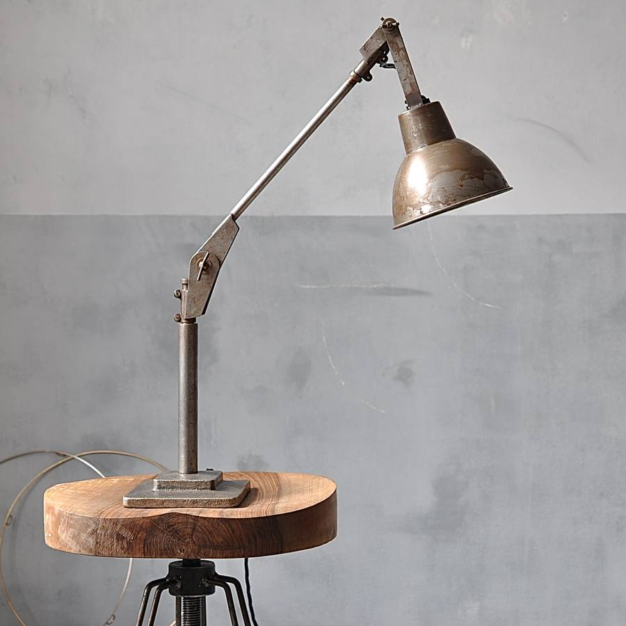 Industrial Angle Poise Desk Lamp By Industrial By Design
