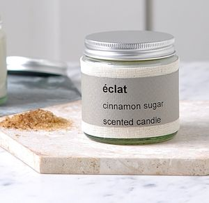 Personalised Éclat Cinnamon Sugar Scented Candle - christmas lighting