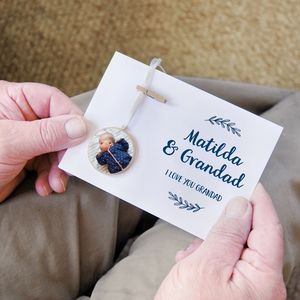 Personalised Grandad And Me Photograph Keepsake Card - what's new