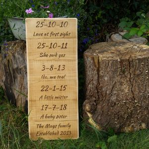 Personalised Special Dates Sign - signs
