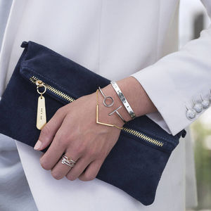 Personalised Suede Clutch Bag - gifts for her