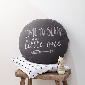Time To Sleep Little One Round Cushion
