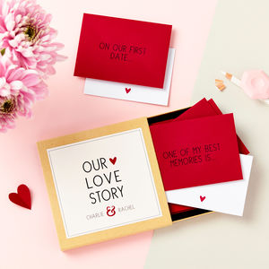 'Our Love Story' Messages Gift Box - winter sale