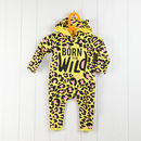 Organic Cotton 'Born To Be Wild' Leopard Baby Grow