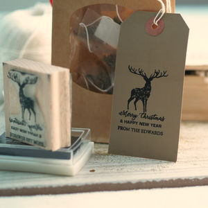 'Merry Christmas' Gift Wrapping Personalised Stamp
